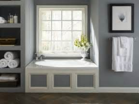 Bathtub Repainting Built In Shelves And A Jacuzzi Whirlpool Tub Add A Modern