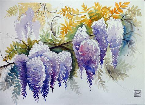 fiori pasquali quot color glicine quot acquerello di lorenza pasquali 35x51