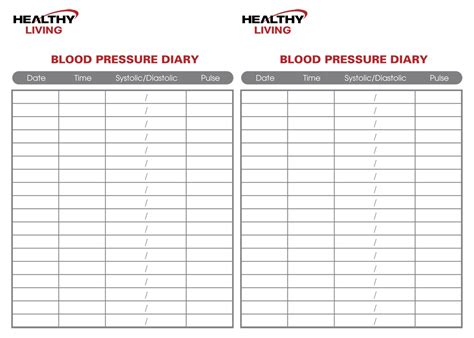 blood pressure log template blood pressure tracking chart free blood pressure chart