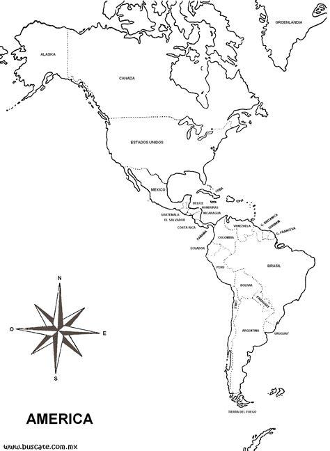 mapa america con division politica mapas de america con nombres imagui