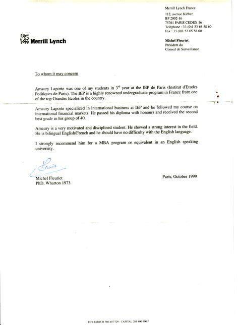 Exemple Lettre De Recommandation Finance Amaury Laporte Resume Cv Dissertation Thesis