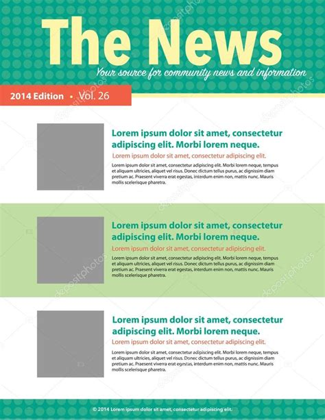stock layout newsletter page layout newsletter for use with business or nonprofit