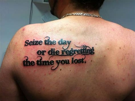 seize the day tattoo by fermartin on deviantart