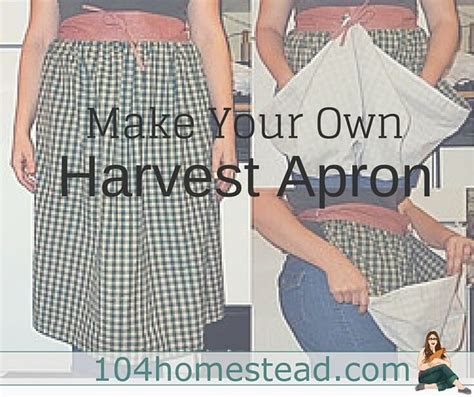pattern for garden harvest apron how easily to make a harvest apron