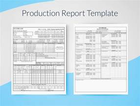 excel report templates free daily production report excel template free