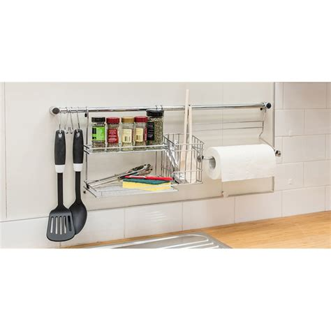 kitchen tidy ideas restored 770mm chrome kitchen tidy set bunnings warehouse