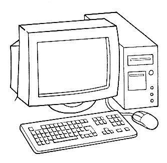imagenes escolares sin colorear dibujos de computadoras para imprimir y pintar colorear