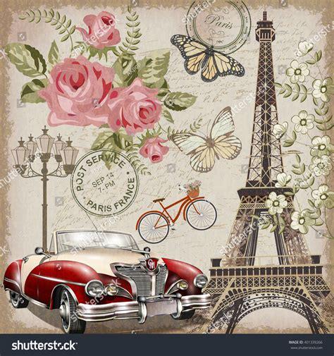 vintage images vintage postcard stock vector 401339266