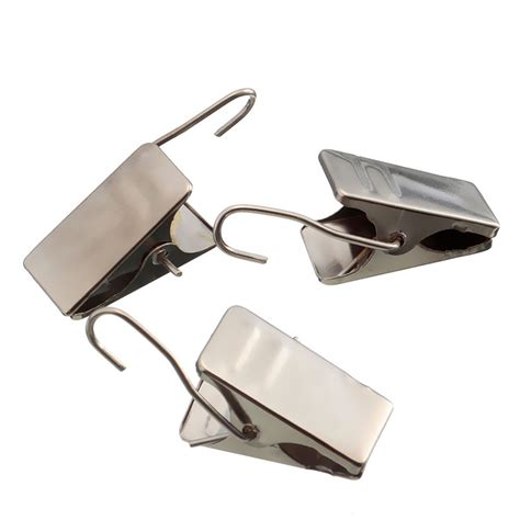 drape clips 20pcs metal shower curtain pole cls multifunction