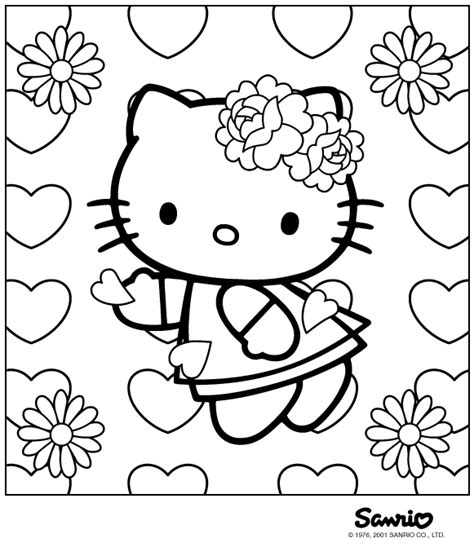 Hello Kitty Coloring Pages On Coloringpagesabc Com Coloring Paper To Print