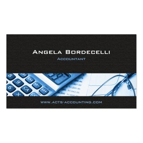 calculator blue accounting business card zazzle