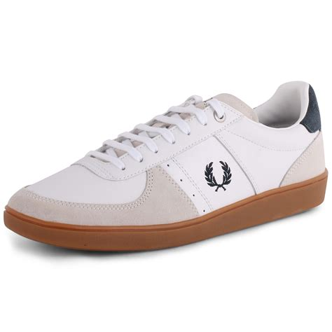 fred perry shoes fred perry topspin b4227 mens leather suede white