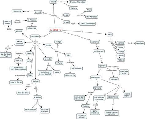 geografia veneto veneto mappa concettuale