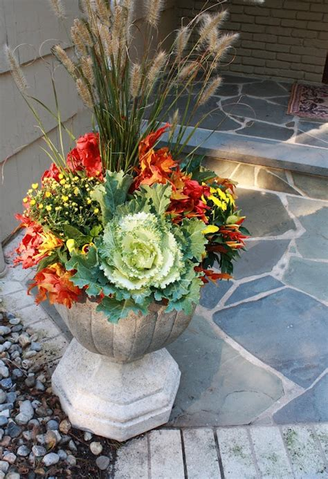 fall plants container gardening pinterest fall container planting patio backyard plans pinterest
