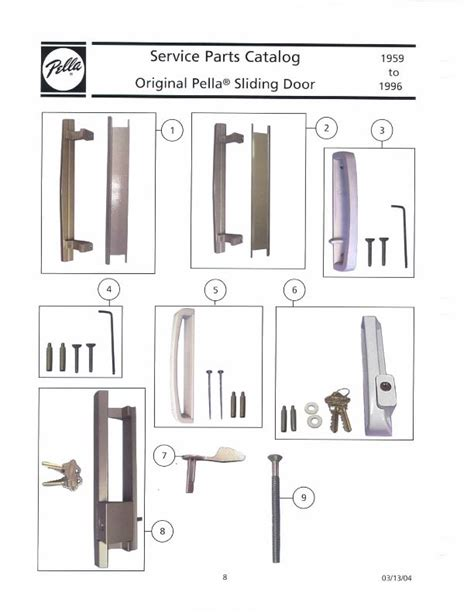 Pella Patio Door Parts Pella Lever Lock Thumb Latch Xo Left Copperite