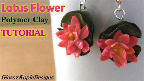 How To Make A Lotus Flower Out Of Paper - lotus flower earrings charms polymer clay tutorial