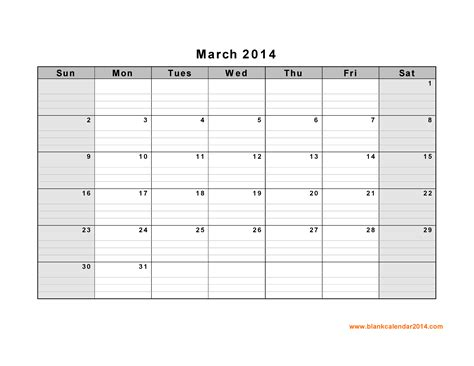 calendar 2014 template printable 5 best images of march 2014 calendar printable monthly