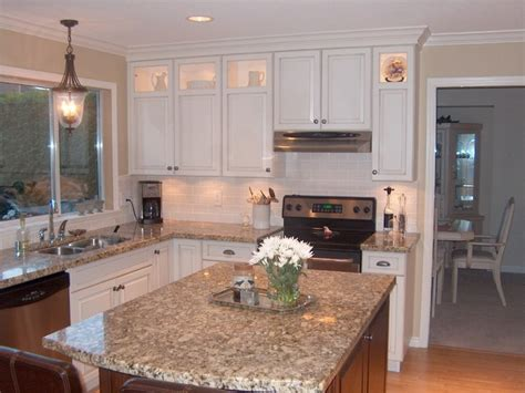 Gorgeous White Stained Cabinets On Contrasting Stained How To Paint Stained Kitchen Cabinets White
