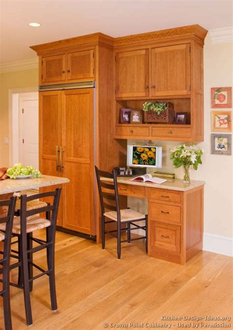 Kitchen Cabinet Desk pictures of kitchens traditional light wood kitchen cabinets kitchen 134