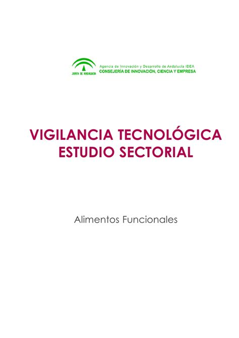 alimentos funcionales definicion technology monitoring report nutraceuticals estudio de
