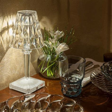 Table lamp BATTERY Cristal Kartell Kristal   quintESSENZA