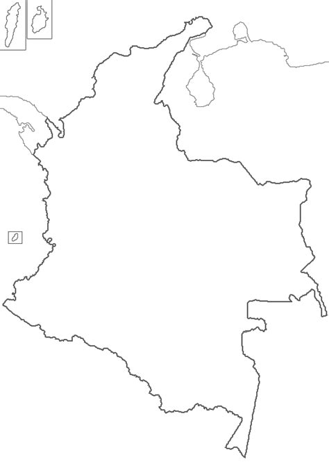 colombia map coloring page colombia map free colouring pages