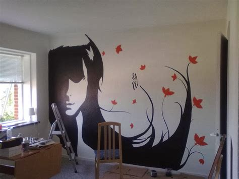 easy wall mural ideas wall decal quotes silhouette paintings transform wallls