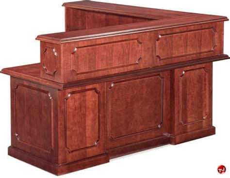 Traditional Reception Desk The Office Leader Traditional Veneer L Shape Reception Desk Workstation