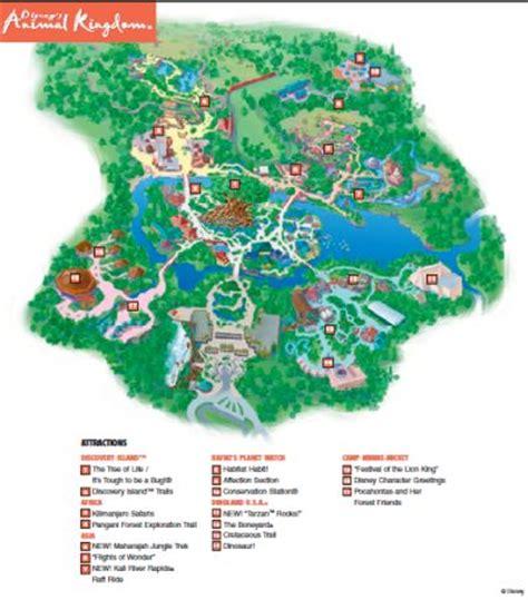 printable map of animal kingdom disney world maps maps of walt disney world