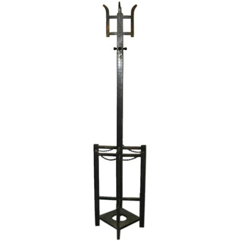 Coat Rack Umbrella by A Mission Style Combined Coat Rack And Umbrella Stand At