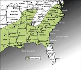 map usa south an outline of american geography map 7