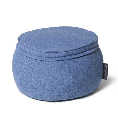 ottoman bean bag interior bean bags wing ottoman blue jazz bean bag