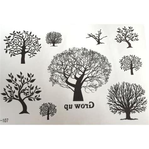 petite planche de 9 tatouages 233 ph 233 m 232 res arbre achat