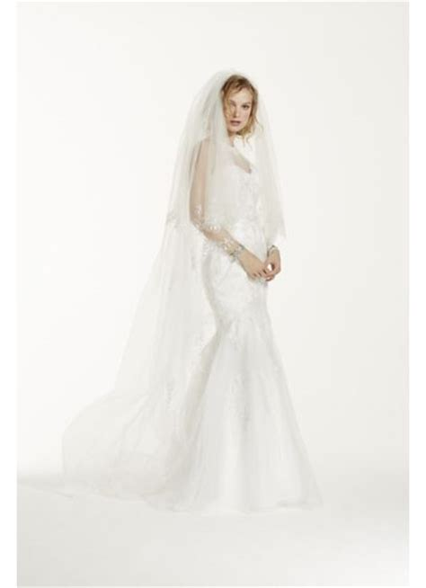 beaded cathedral veil two tier scallop beaded edge cathedral veil david s bridal