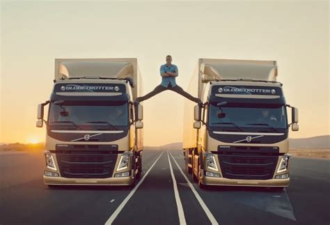 volvo truck ad van damme performs epic in latest volvo trucks ad
