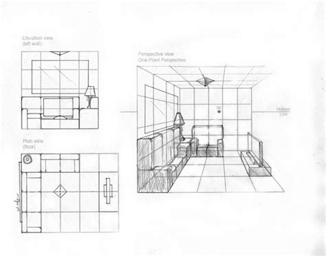floor plan with elevation and perspective plan view elevation view and perspective view by kydee