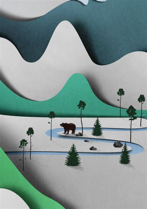Landscape Design Paper Paper Landscape Illustrated By Eiko Ojala Colossal