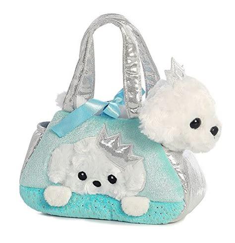 aurora world fancy pals plush princess kitten purse pet