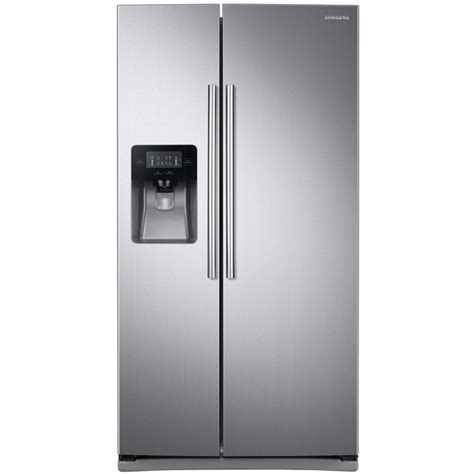 Shop Samsung 24.52 cu ft Side by Side Refrigerator with Single Ice Maker (Stainless Steel) at