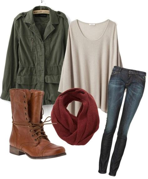 Wakai Maroon Green Army green jacket maroon circle scarf oversized t shirt brown combat boots i