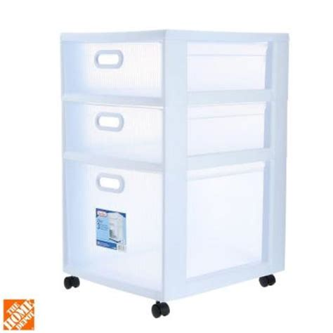 Sterilite Ultra 3 Drawer Cart by Sterilite 16 In 3 Drawer Ultra Cart 2 Pack 36128002