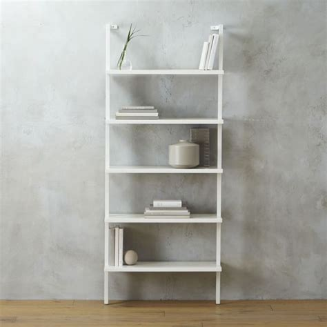 Stairway White 72 5 Quot Quot Wall Mounted Bookcase Furniture Wall Mounted Bookcase White