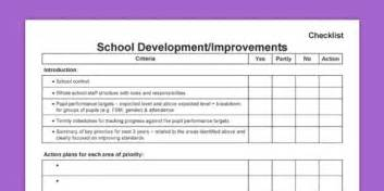 school improvement plan template uk school improvement development plan sidp checklist sip