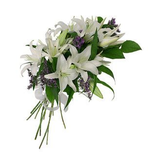 White Lily Bouquet Online Delivery   Indiagift