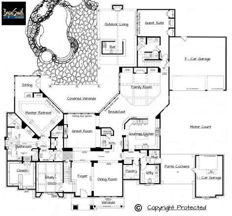 Texas House Plans by Texas Hill Country Plan 7500
