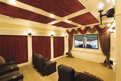 home theater curtain ideas 15 cool home theater design ideas digsdigs