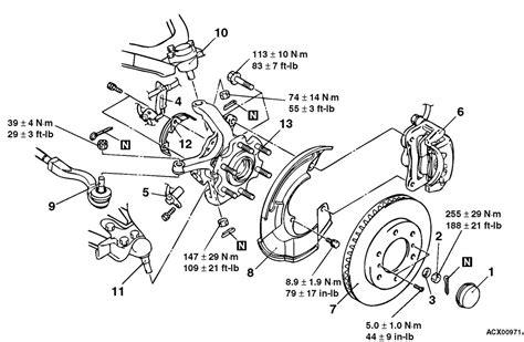 front wheel assembly diagram service manual diagram to change wheel bearing on a 1994
