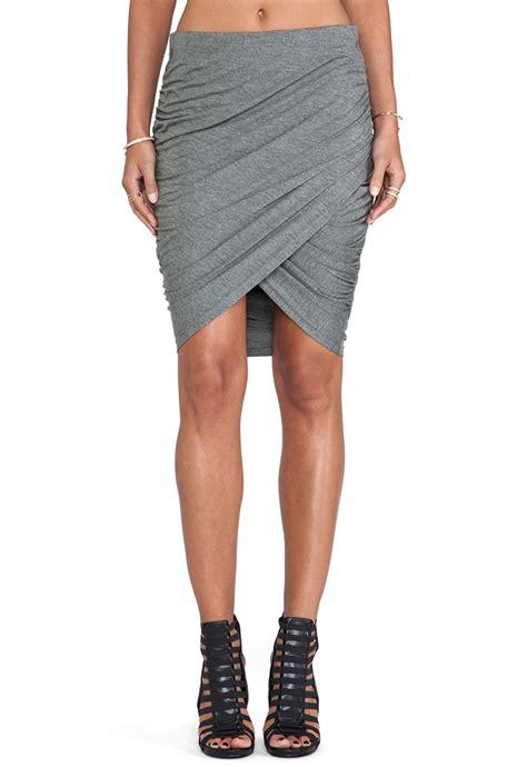 cheap fashion high waist drapes design solid grey a line