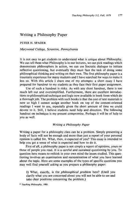 My Essay On Free Will Philosophy Forums Philosophical Essay Exle Personal Philosophy Essay Exle Lilliemcvey My Philosophy