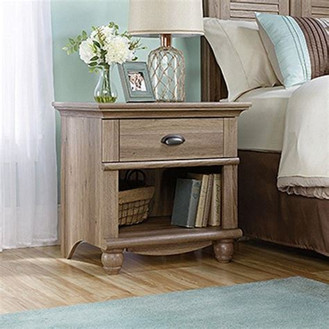 sauder salt oak sauder harbor view 1 salt oak nightstand 415004